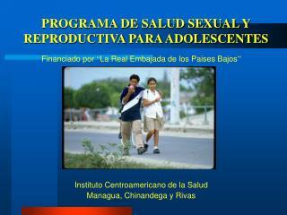 PROGRAMA DE SALUD SEXUAL Y REPRODUCTIVA PARA ADOLESCENTES