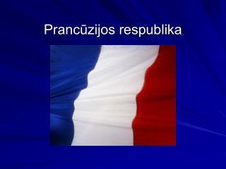 Prancūzijos respublika