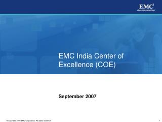 EMC India Center of Excellence (COE)