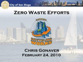 Zero Waste Efforts