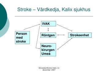 Stroke – Vårdkedja, Kalix sjukhus