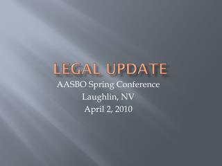 Legal Update
