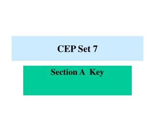 CEP Set 7