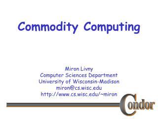 Commodity Computing