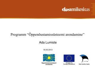 """Programm """"Õppenõustamissüsteemi arendamine"""""""
