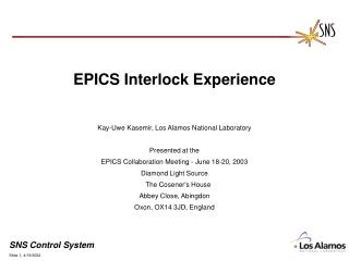 EPICS Interlock Experience