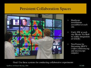 Persistent Collaboration Spaces