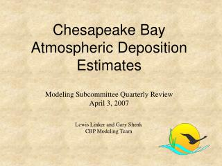 Chesapeake Bay Atmospheric Deposition Estimates