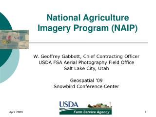 National Agriculture Imagery Program NAIP