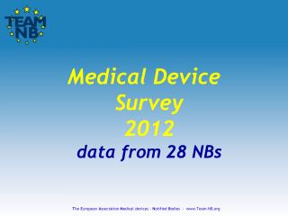 Medical Device Survey 2012 data from 28 NBs