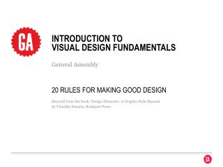 Introduction to  visual design fundamentals