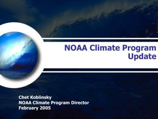 NOAA Climate Program  Update