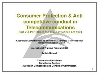 Australian Communications and Media Authority & International Telecommunication Union