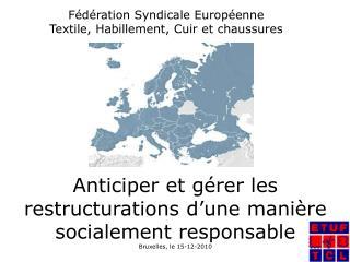 Fédération Syndicale Européenne Textile, Habillement, Cuir et chaussures