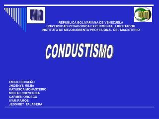 REPUBLICA BOLIVARIANA DE VENEZUELA UNIVERSIDAD PEDAGOGICA EXPERIMENTAL LIBERTADOR