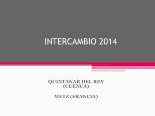 INTERCAMBIO 2014
