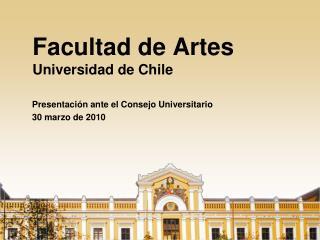 Facultad de Artes Universidad de Chile