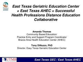Amanda Thomas Community Based Education/ Practice Entry and Support Program Coordinator