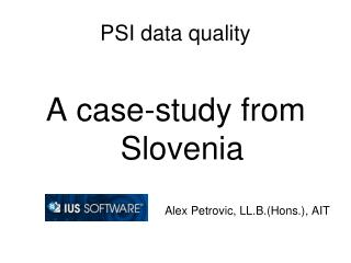 PSI data quality