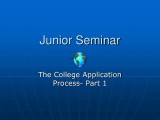Junior Seminar
