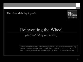 The New Mobility Agenda