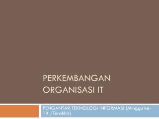 PERKEMBANGAn  ORGANISASI IT
