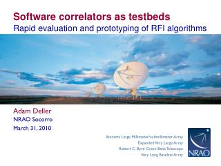 Software correlators as testbeds