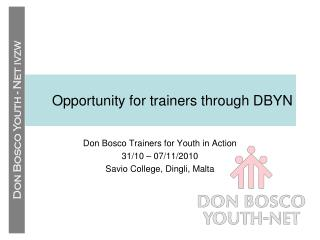 Opportunity for trainers through DBYN