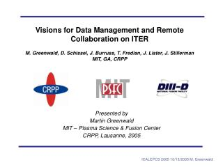 Presented by  Martin Greenwald MIT – Plasma Science & Fusion Center CRPP, Lausanne, 2005
