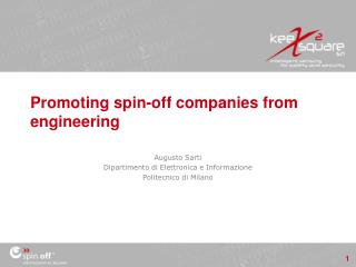 Promoting spin-off companies from engineering