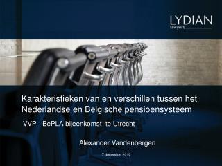 VVP -  BePLA bijeenkomst te  Utrecht