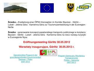 Program Operacyjny Współpracy Transgranicznej Polska – Saksonia 2007-2013