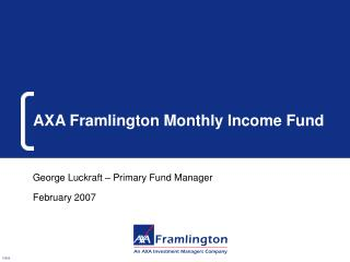 AXA Framlington Monthly Income Fund