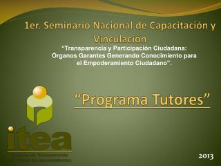 1er. Seminario Nacional de Capacitación y Vinculación