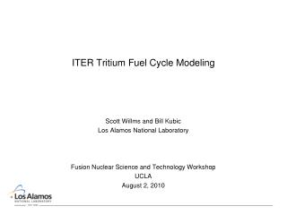 ITER Tritium Fuel Cycle Modeling