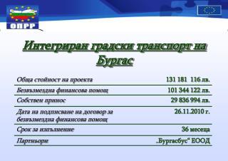Интегриран градски транспорт на Бургас