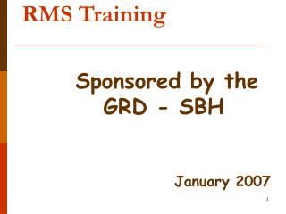 RMS Training