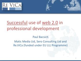 Successful  use of  web 2.0  in professional development