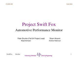 Project Swift Fox