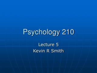 Psychology 210