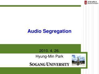 Audio Segregation