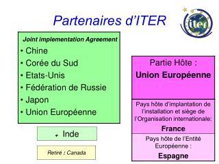 Partenaires d'ITER