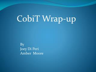 CobiT  Wrap-up