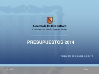 Palma, 30 de octubre de 2013