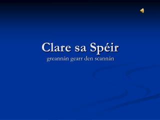 Clare sa Spéir