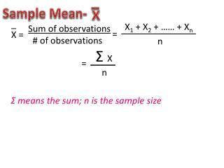 Sample Mean-
