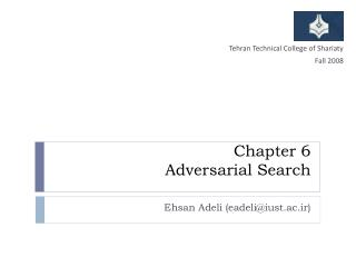 Chapter 6 Adversarial Search