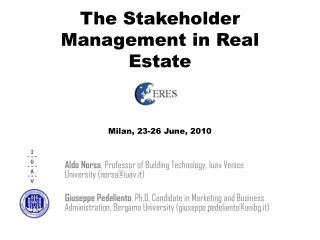 The Stakeholder Management in  Real  Estate