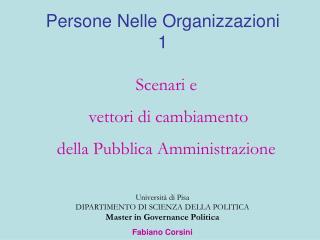Persone Nelle Organizzazioni 1