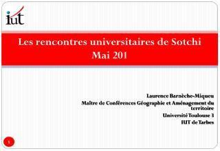 Les rencontres universitaires de Sotchi  Mai 201